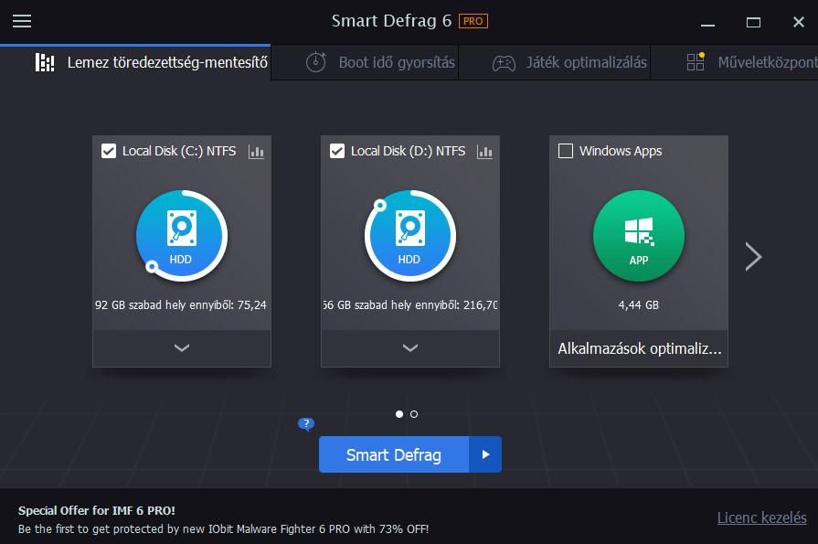 IObit Smart Defrag Pro 6.0.1.116 + Crack HUN